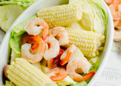 Beer-Boiled Shrimp with Fresh Corn-11