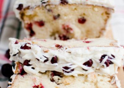 christmas cranberry pound cake-4